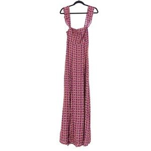 Flynn Skye Sz S Bardot Maxi Dress Purple Floral